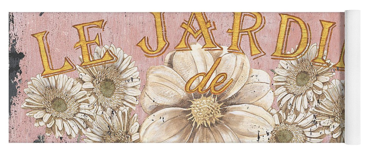 Le Jardin Yoga Mat featuring the painting Le Jardin 1 by Debbie DeWitt