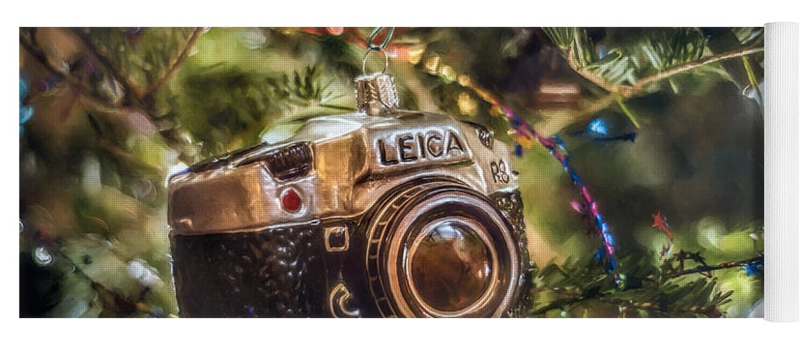 Scott Norris Photography. Christmas Tree Yoga Mat featuring the photograph Leica Christmas by Scott Norris