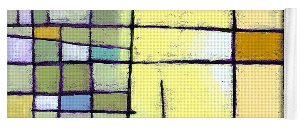 Abstract Yoga Mat featuring the painting Lemon Squeeze by Douglas Simonson