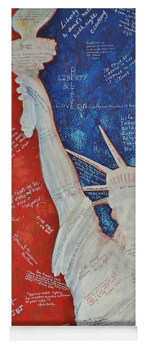 Statue Of Liberty Yoga Mat featuring the painting Liberty Is... by Margaret Bobb