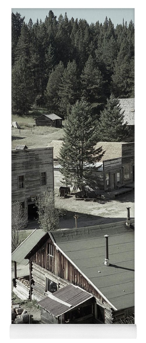 Ghost Towns Yoga Mat featuring the photograph Life in a Ghost Town by Richard Rizzo