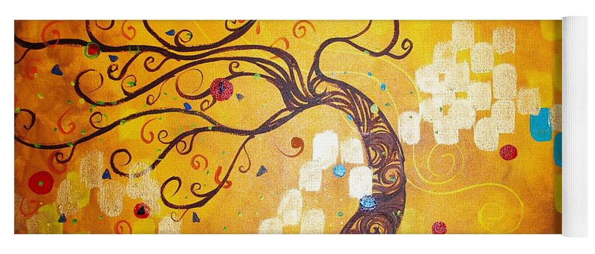 Yoga Mat featuring the painting Life Is A Ball by Stefan Duncan