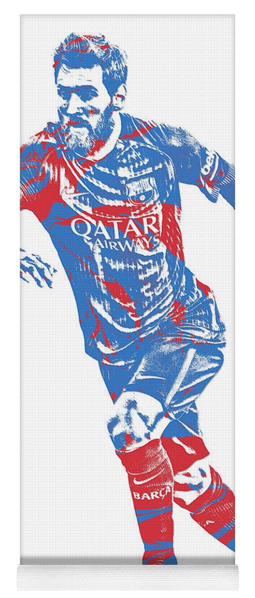 e181e81aeca Lionel Messi F C Barcelona Argentina Pixel Art 1 Yoga Mat for Sale by Joe  Hamilton
