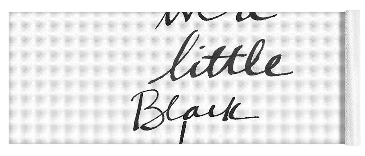 Little Black Dress Yoga Mat featuring the painting Little Black Dress - Art By Linda Woods by Linda Woods