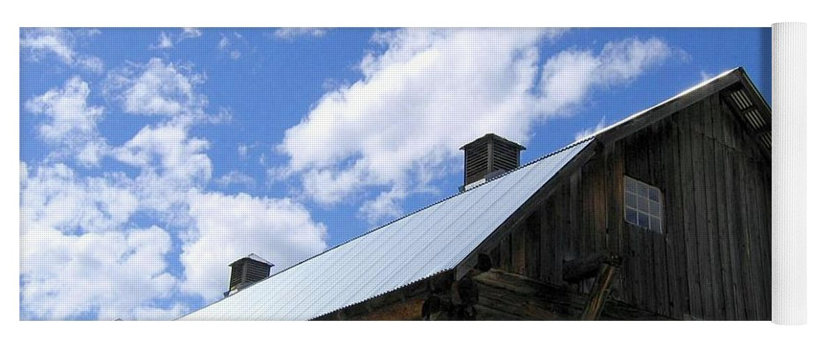 Log Clydesdale Barn Yoga Mat featuring the photograph Log Clydesdale Barn by Will Borden