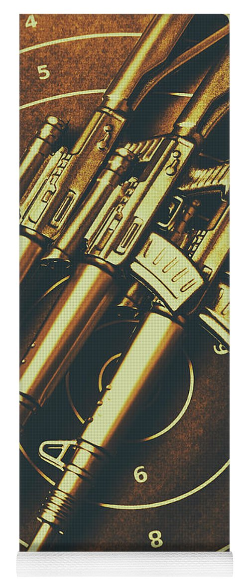 Weaponry Yoga Mat featuring the photograph Long Range Tactical Rifles by Jorgo Photography - Wall Art Gallery