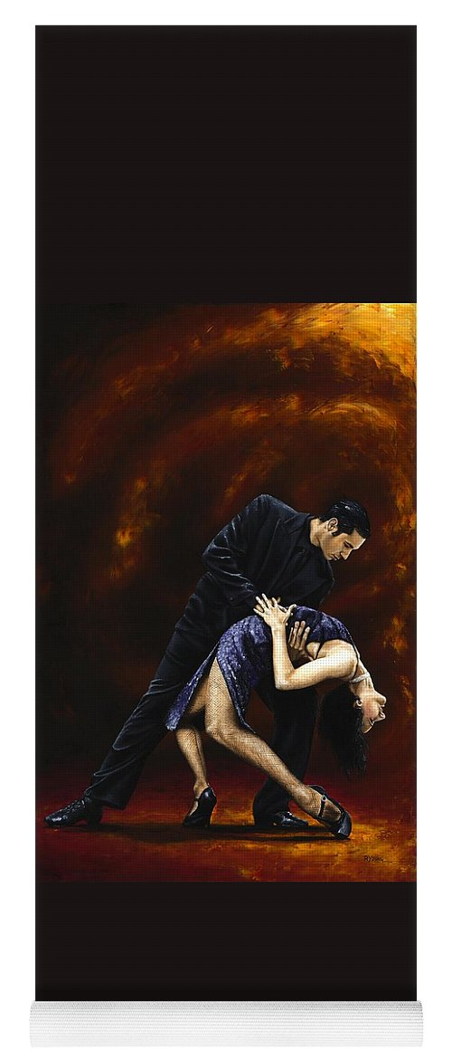 Tango Yoga Mat featuring the painting Lost in Tango by Richard Young