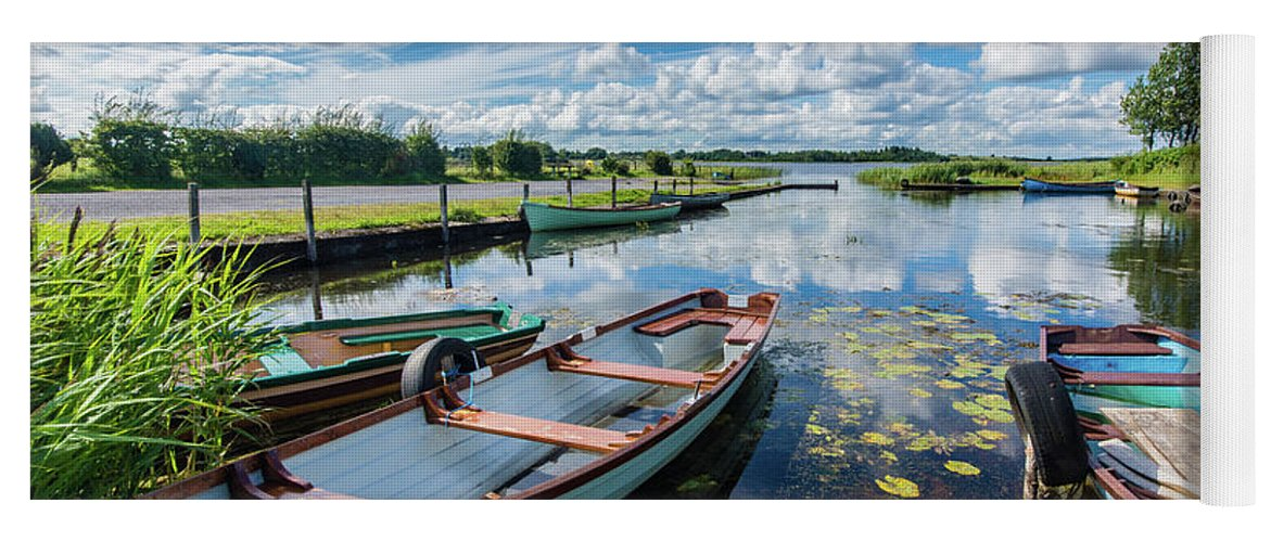 Landscape Yoga Mat featuring the photograph Lough O'Flynn, Roscommon, Ireland by Anthony Lawlor
