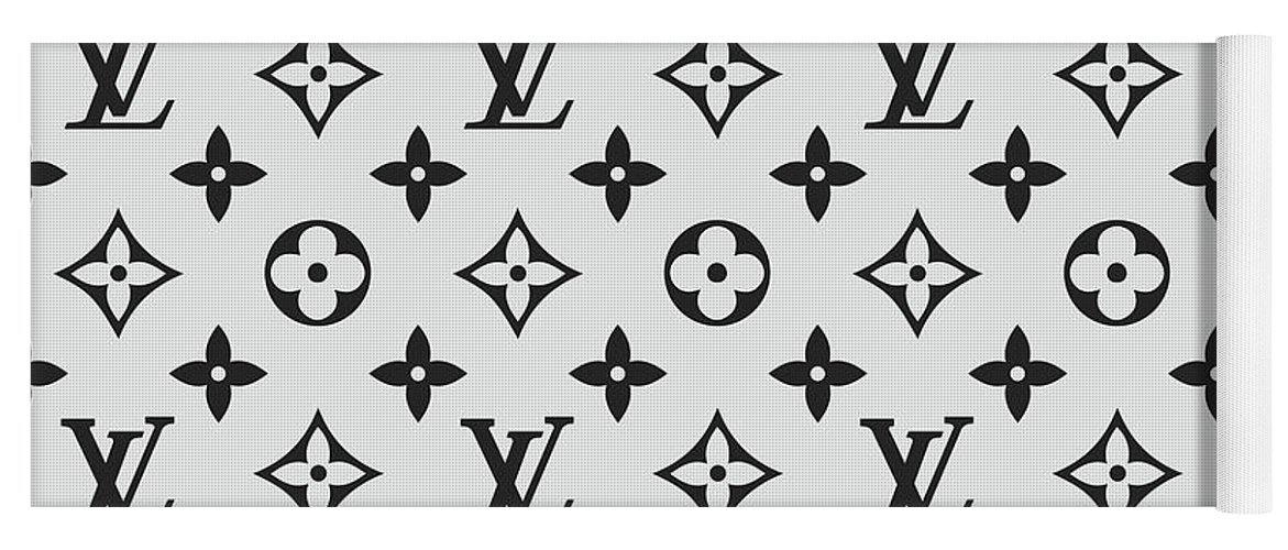 5b09b4676b4 Louis Vuitton Pattern Lv 07 Grey Yoga Mat