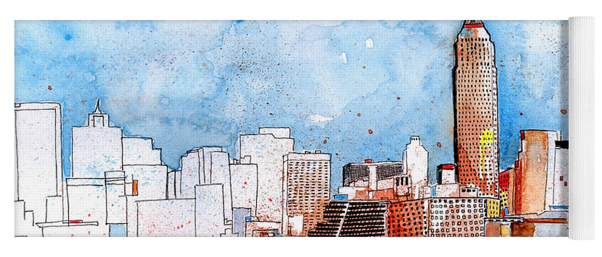 New York City Art Yoga Mat featuring the painting Love Nyc by Callan Art