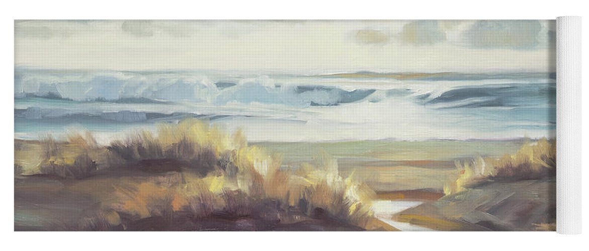 Ocean Yoga Mat featuring the painting Low Tide by Steve Henderson