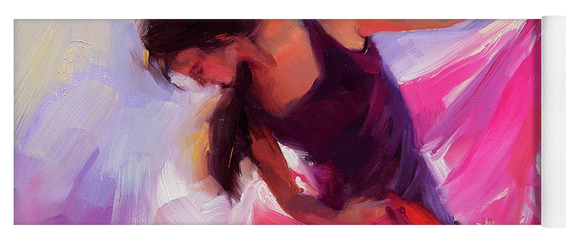 Woman Yoga Mat featuring the painting Magenta by Steve Henderson