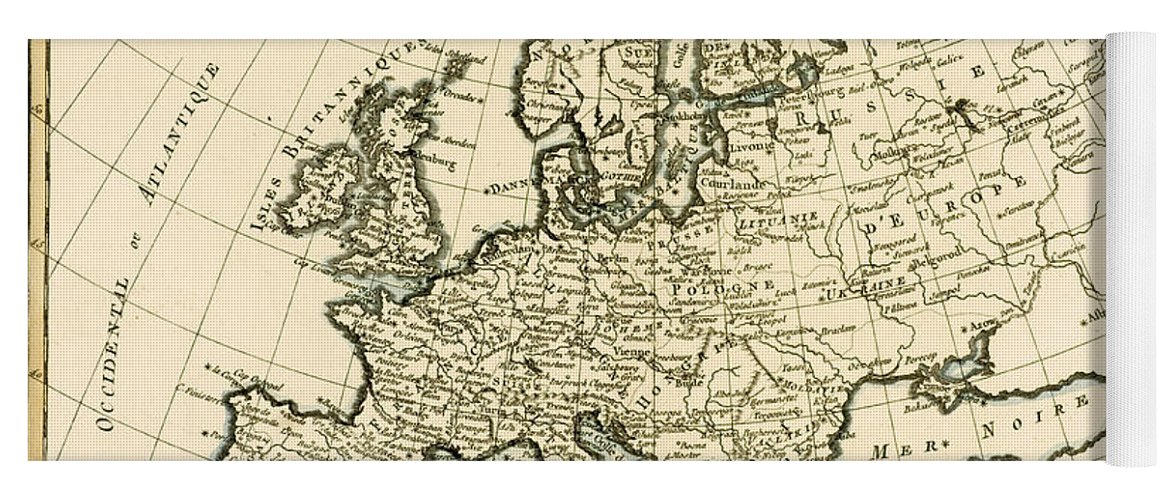 Map Of Europe For Sale.Map Of Europe Yoga Mat For Sale By Guillaume Raynal