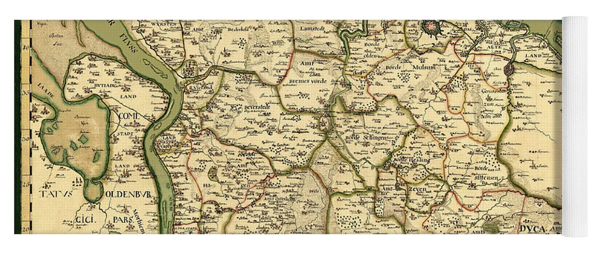 Map Of Germany For Sale.Map Of Germany 1750 Yoga Mat
