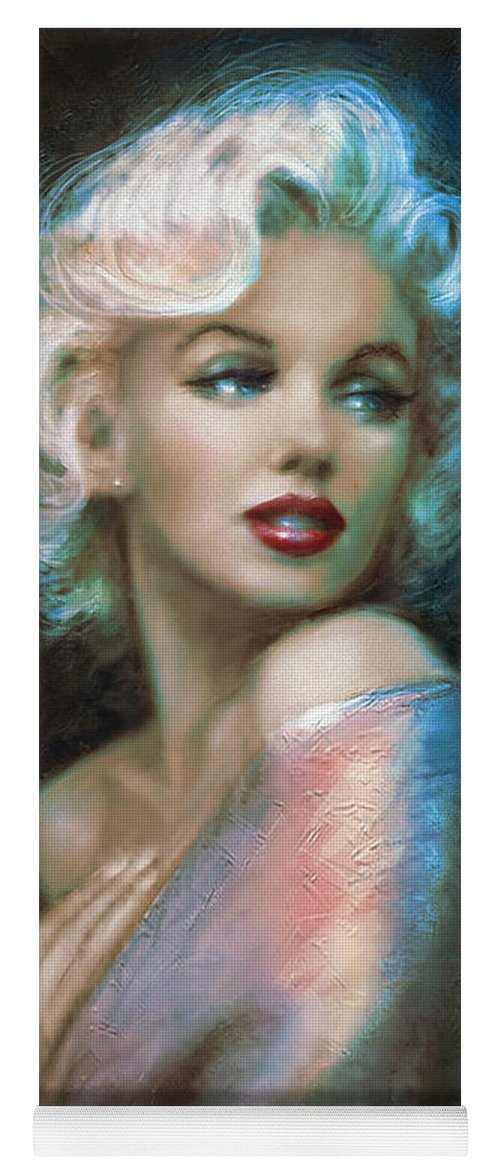 Marilyn Yoga Mat featuring the painting Marilyn Romantic Ww 6 A by Theo Danella
