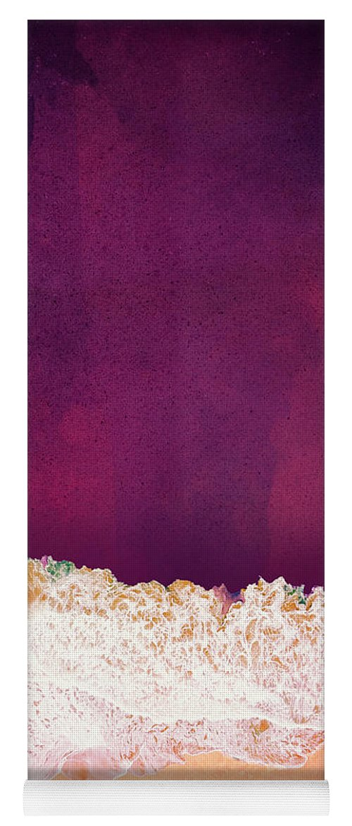 Maroon Yoga Mat featuring the photograph Maroon Ocean by Spacefrog Designs