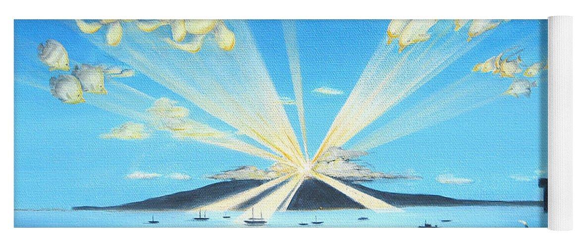 Maui Yoga Mat featuring the painting Maui Magic by Jerome Stumphauzer