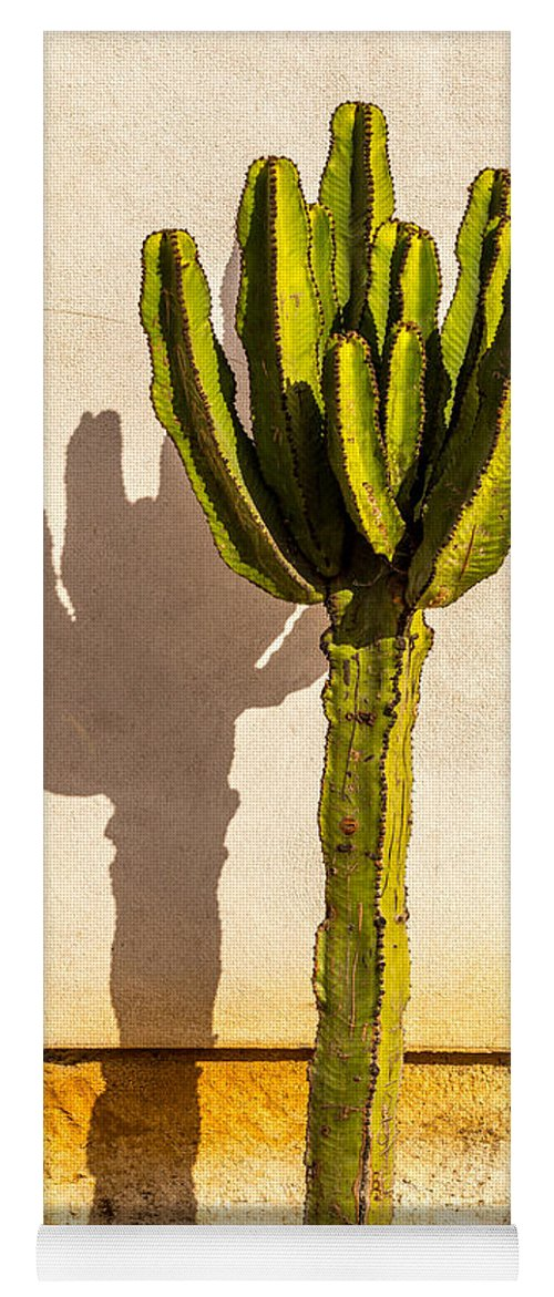 Cactus Yoga Mat featuring the photograph Me And My Shadow by Peter Tellone