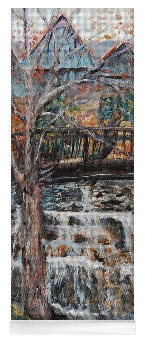 Waterfalls Yoga Mat featuring the painting Memories by Nadine Rippelmeyer