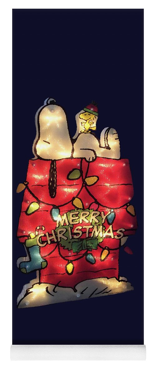 Christmas Snoopy.Merry Christmas Snoopy Yoga Mat
