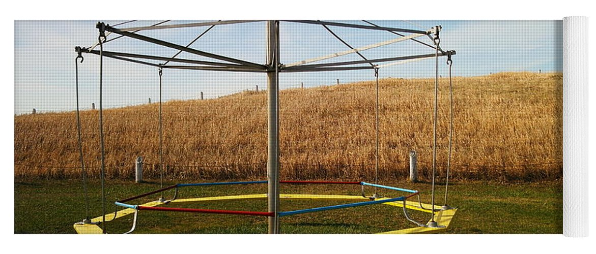 Playground Yoga Mat featuring the photograph Merry Go Round On The Prairie by Jeff Swan