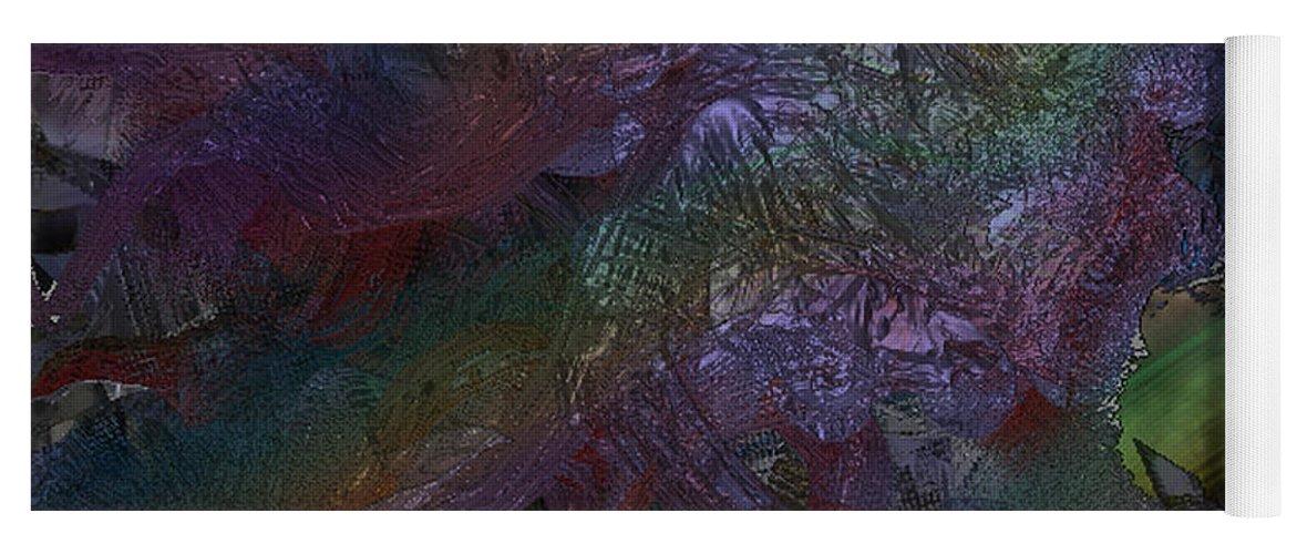 Digital Yoga Mat featuring the digital art Metallic Color by J P Lambert