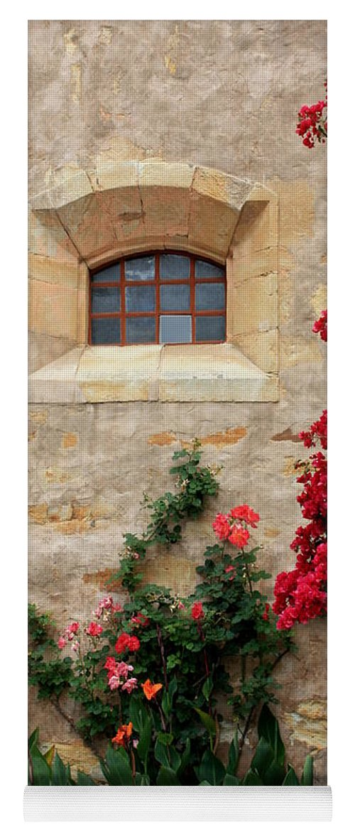 Window Yoga Mat featuring the photograph Mission Window by Carol Groenen