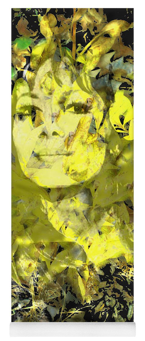 Mistress Of Autumn Yoga Mat featuring the digital art Mistress of Autumn by Seth Weaver