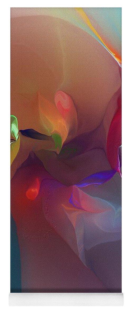 Fine Art Yoga Mat featuring the digital art Mixed Emotions by David Lane