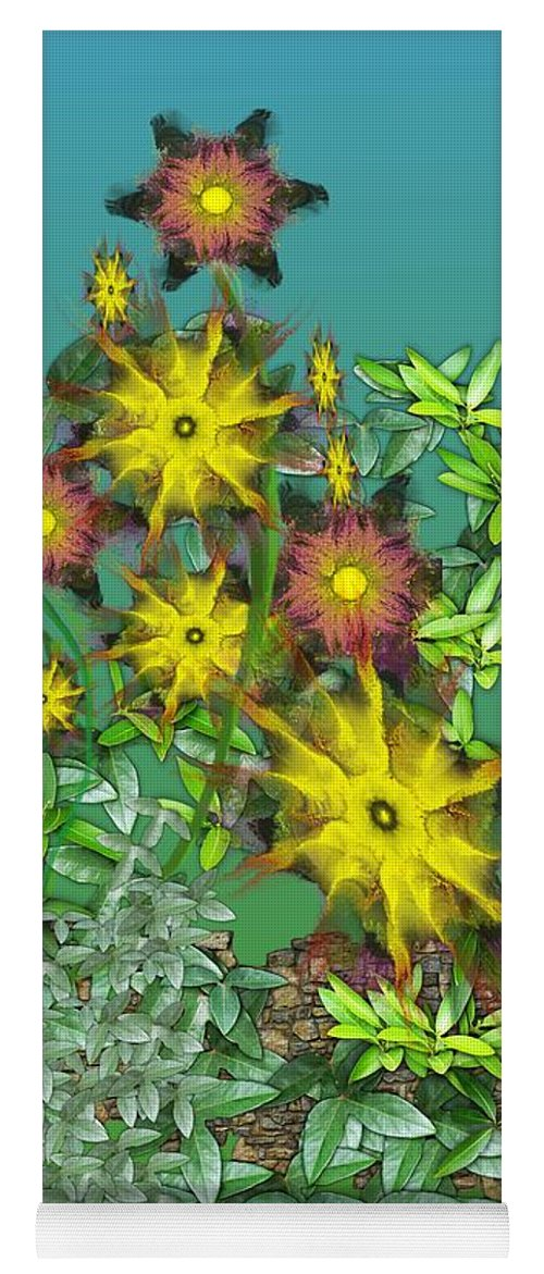 Flowers Yoga Mat featuring the digital art Mixed Flowers by David Lane