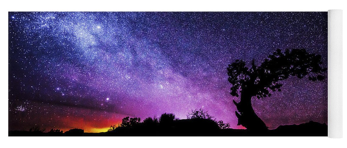 Moab Skies Yoga Mat featuring the photograph Moab Skies by Chad Dutson