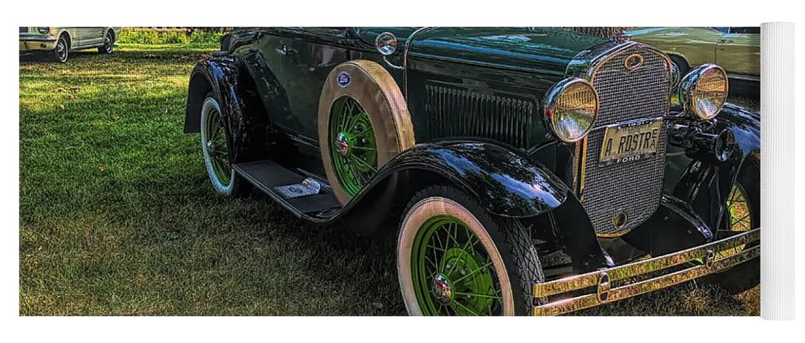 Model A Ford Yoga Mat featuring the photograph 1928 Model A Ford by Luther Fine Art