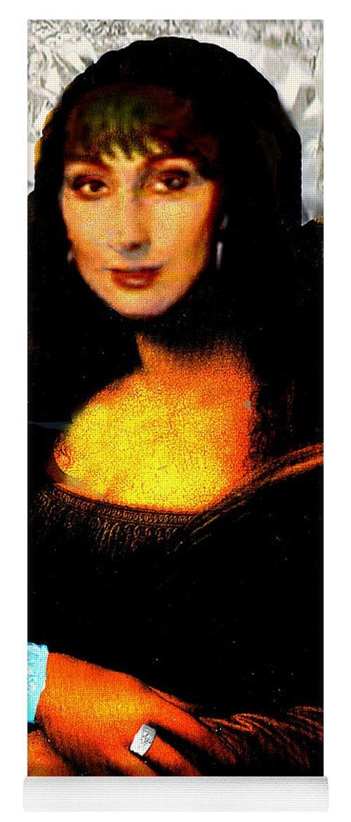 Mona Cher Yoga Mat featuring the digital art Mona Cher by Seth Weaver