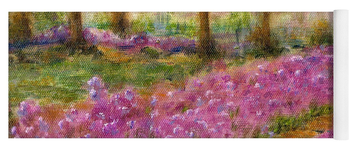 Monet Yoga Mat featuring the painting Monet's Garden in Cannes by Jerome Stumphauzer