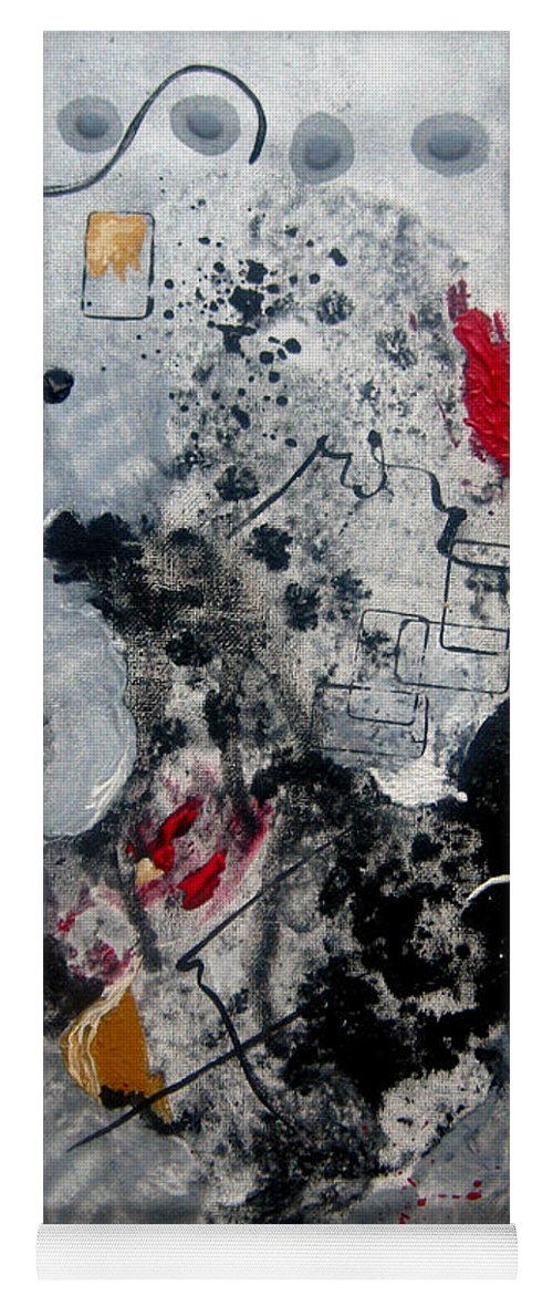 Abstract Yoga Mat featuring the painting Moods II by Ruth Palmer