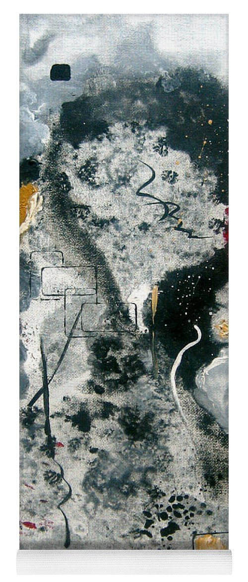 Abstract Yoga Mat featuring the painting Moods by Ruth Palmer