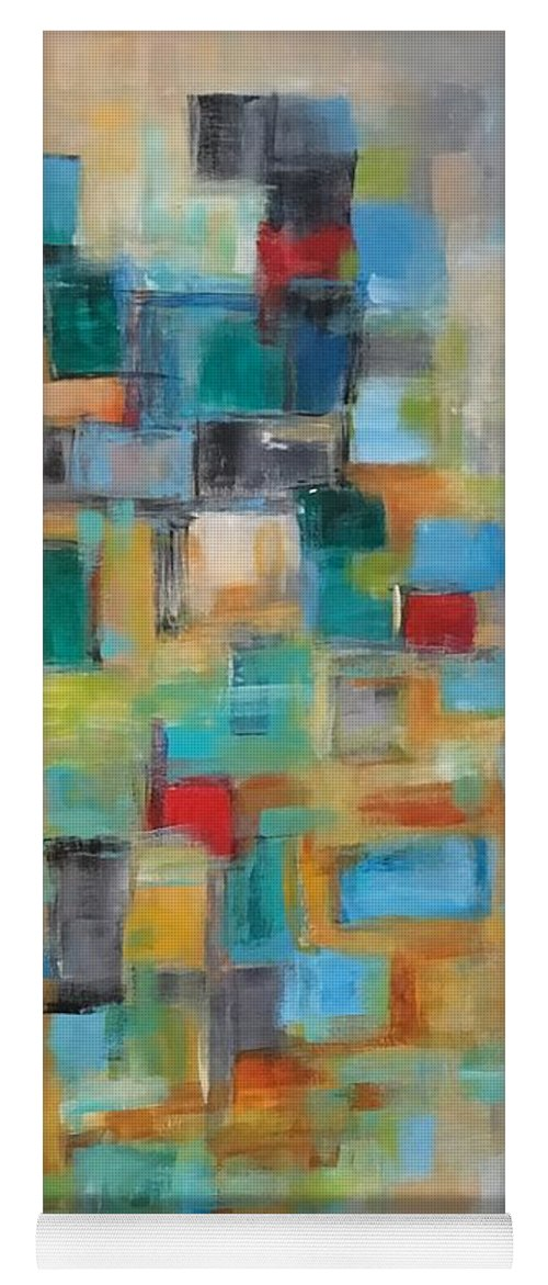 Acrylic Abstract Yoga Mat featuring the painting Morning Sunrise #2 by Suzzanna Frank