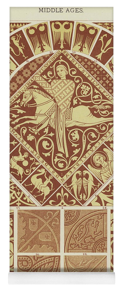 Mosaic Patterns From The Middle Ages Yoga Mat for Sale by German School