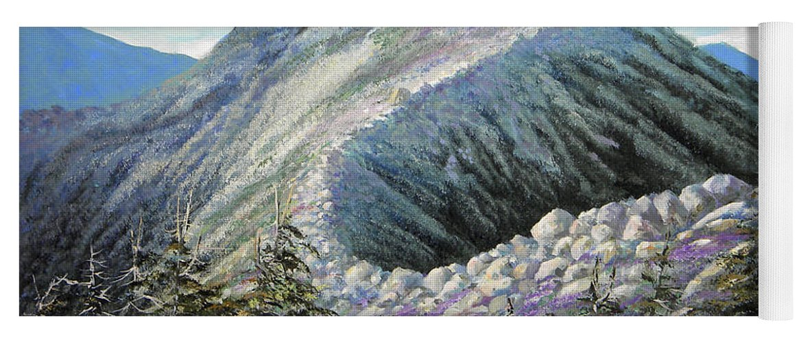 Landscape Yoga Mat featuring the painting Mountain Ridge by Frank Wilson