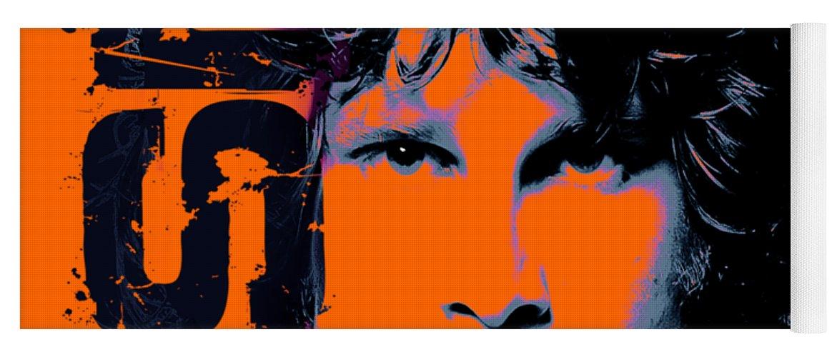 The Doors Yoga Mat featuring the digital art Mr Mojo Risin by Mal Bray
