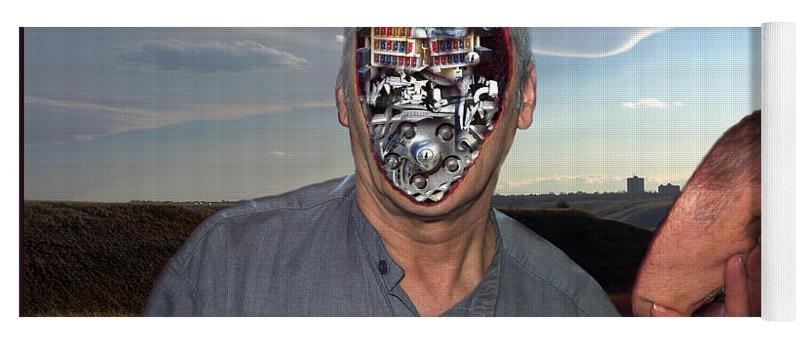 Surrealism Yoga Mat featuring the digital art Mr. Robot-Otto by Otto Rapp