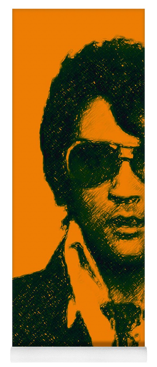 Elvis Presley Yoga Mat featuring the photograph Mugshot Elvis Presley by Wingsdomain Art and Photography