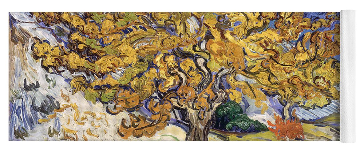 Mulberry Yoga Mat featuring the painting Mulberry Tree by Vincent Van Gogh