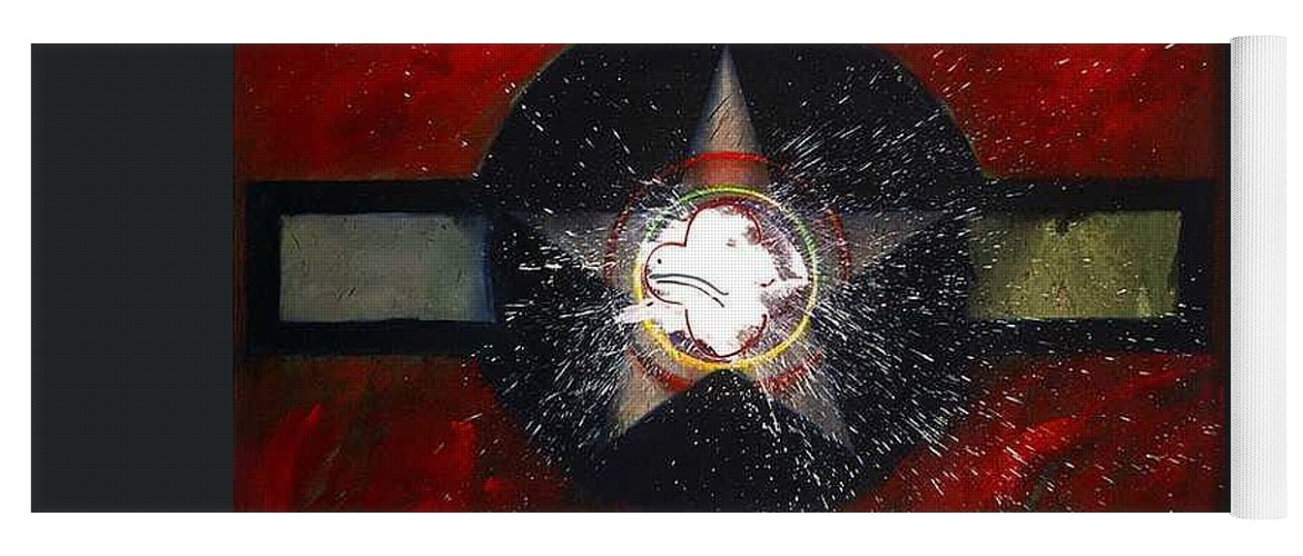 Usaaf Insignia Yoga Mat featuring the painting My Indian Red by Charles Stuart