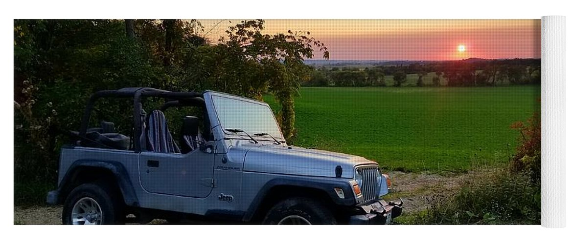 My Jeep Yoga Mat for Sale by Scott Perkins