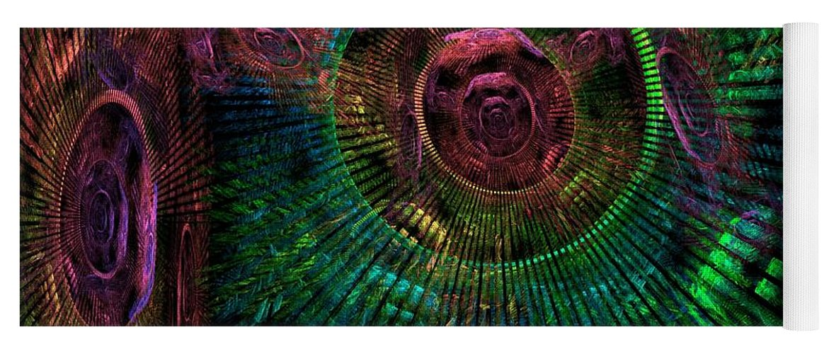 Fractal Yoga Mat featuring the digital art My Mind's Eye by Lyle Hatch