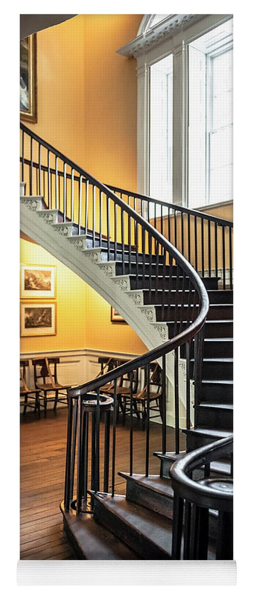 Nathaniel Russell Yoga Mat Featuring The Photograph Nathaniel Russell House Free  Floating Staircase By Dale Powell
