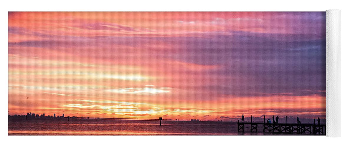 Sunset Yoga Mat featuring the photograph Nature's Palette by Norman Johnson