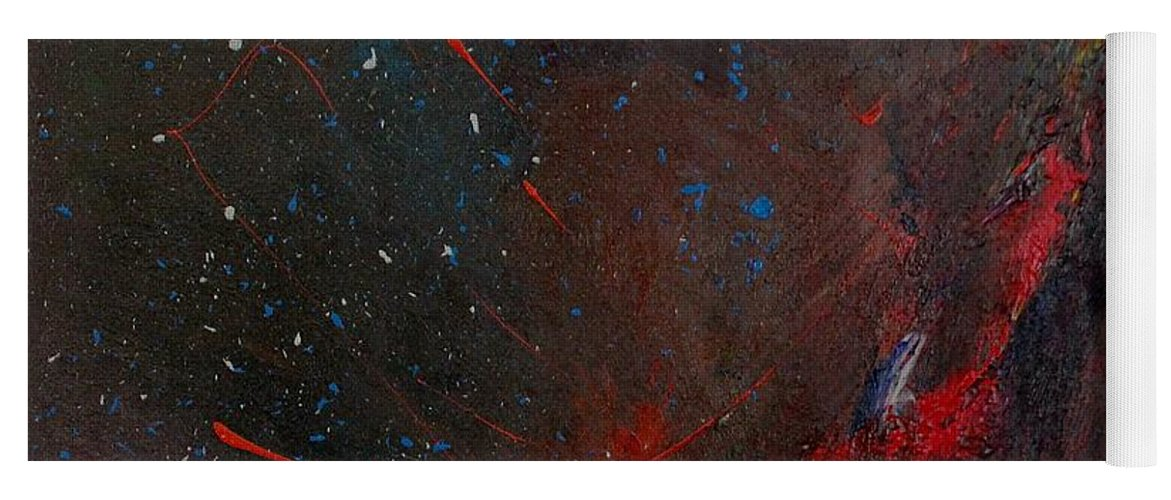 Universe Yoga Mat featuring the painting Nebula by Michael Lucarelli