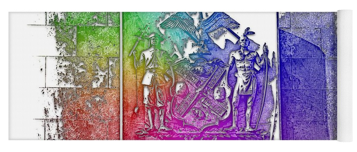 Cool Yoga Mat featuring the photograph New York 1664 Cool Rainbow 3 Dimensional by Di Designs